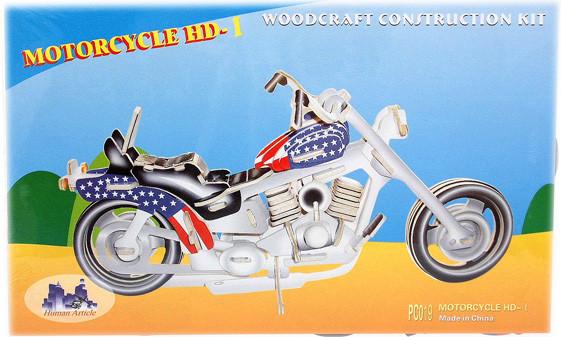 """Сборная деревянная 3D модель Мотоцикл """"Харлей Девидсон"""""""