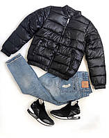 Куртка женская демисезонная. Цвет: чёрный, синий, бежевый