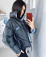 Куртка женская демисезонная. Цвет: чёрный, белый, фиолетовый, лайм