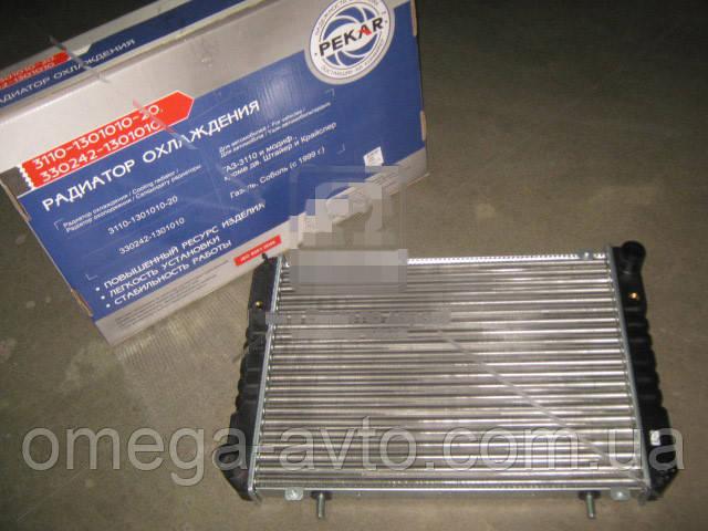Радиатор охлаждения ГАЗ-2217, СОБОЛЬ (после 1999г.) (ПЕКАР) 330242-1301010
