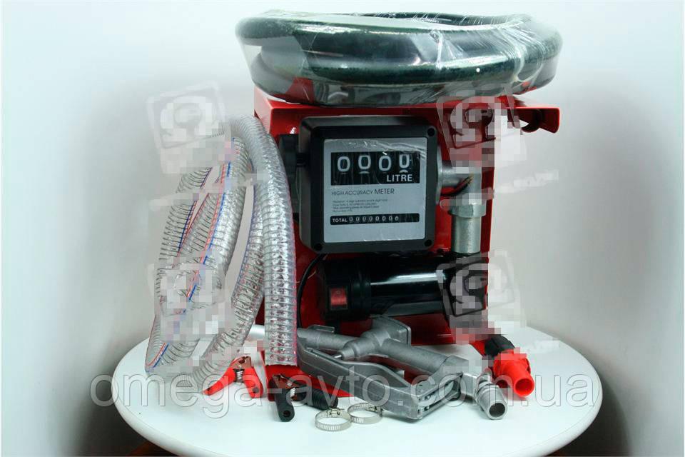 Насос топливоперекачивающий, помповый, 24В счетчик+пистолет (Дорожная Карта) DK8020-24V
