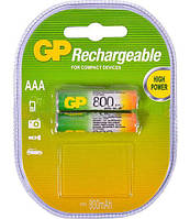 Аккумуляторная батарейка ААА (минипальчиковая) GP 1шт R03 800mA 80AAAHC-2UEC2