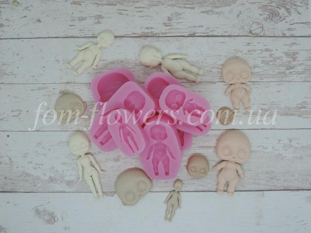 Силиконовые формы кукол для полимерной глины, эпоксидной смолы, мастики и мыла.