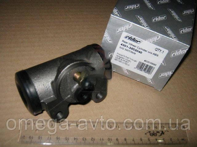 Цилиндр тормозной рабочий ГАЗ 3307,3309 задний без АБС (RIDER) 4301-3502040