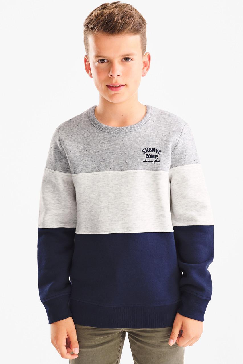 Свитшот для мальчика с надписями C&A Германия Размер 134-140
