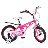 Велосипед детский PROF1 14д. LMG14203 Infinity,магнез.рама,малиново-розов.,звонок,доп.кол