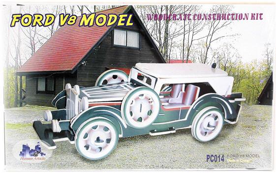 """Сборная деревянная 3D модель""""Форд V5"""""""