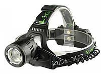 Налобный фонарик Greelite BL-2177-T6 (2 зарядных, 2 аккумулятора)