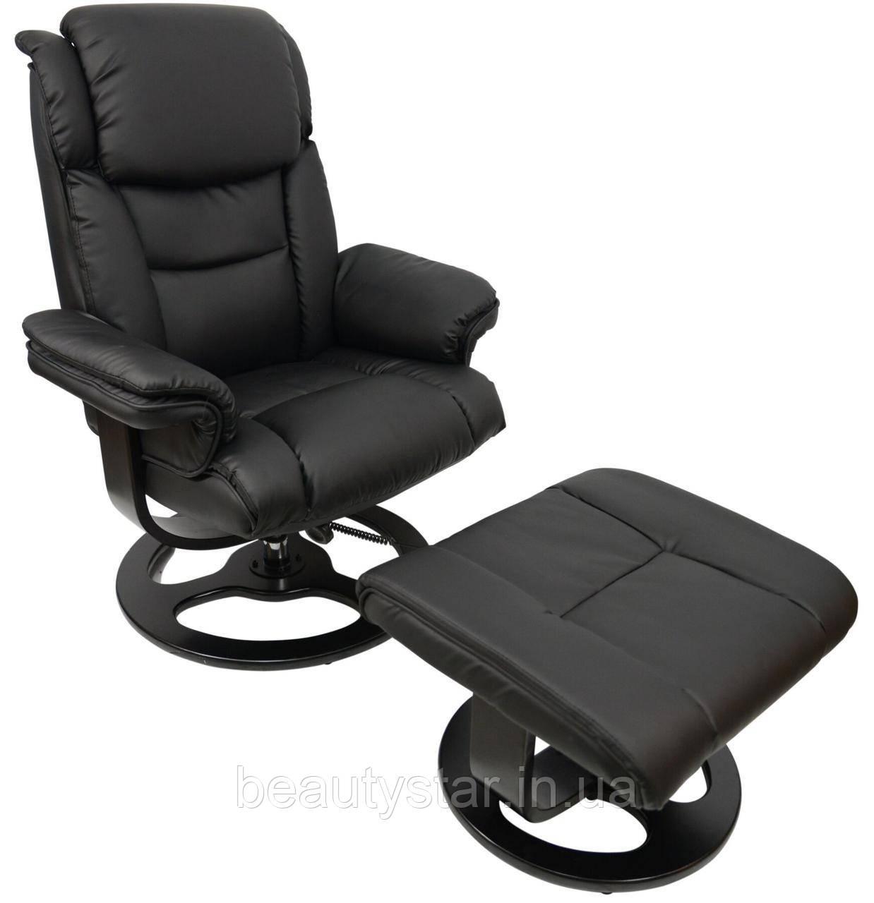 Крісло з масажем Bonro 5099 Black (45000001)