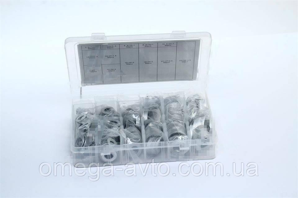 Набір алюмінієвих шайб 650шт. (М3-М22) (Rider) RD11650AK