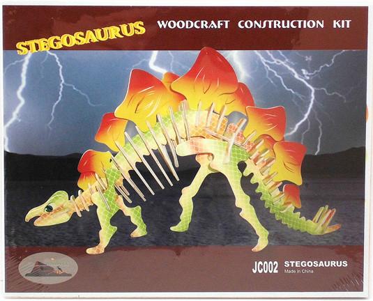 """Цветная сборная деревянная 3D модель """"Стегозавр"""""""