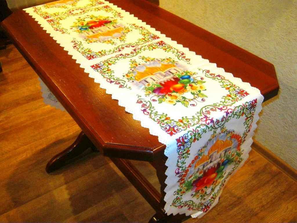 Доріжка на стіл великодня 36х210см, арт.21 ТМBELLO-PRINT