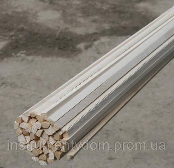 Штапик деревянный 1 м (упаковка 1000 шт)