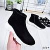 Ботинки женские Sporty черные + белый 6519 Деми