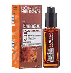 Новинки  Масло для бороды и лица L'Oreal Men Expert Barber Club Long Beard & Skin Oil, 30 мл