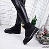 Ботинки женские Strong черные замша + кожа 6300 ДЕМИ