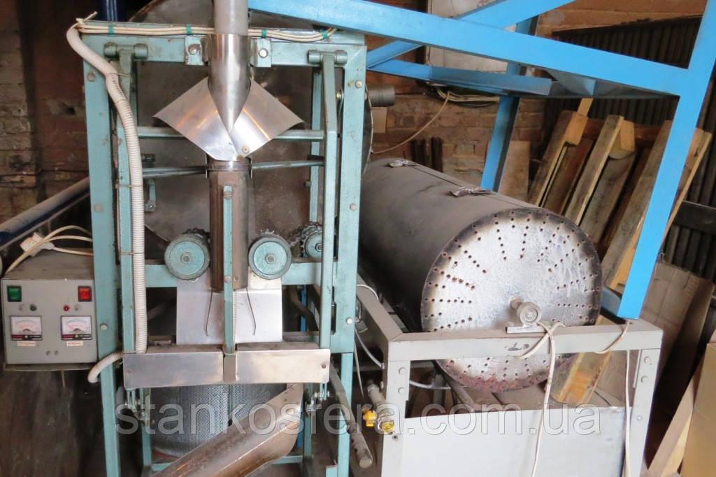Оборудование жарки семечек: очиститель, газовая жаровня и упаковка семечек