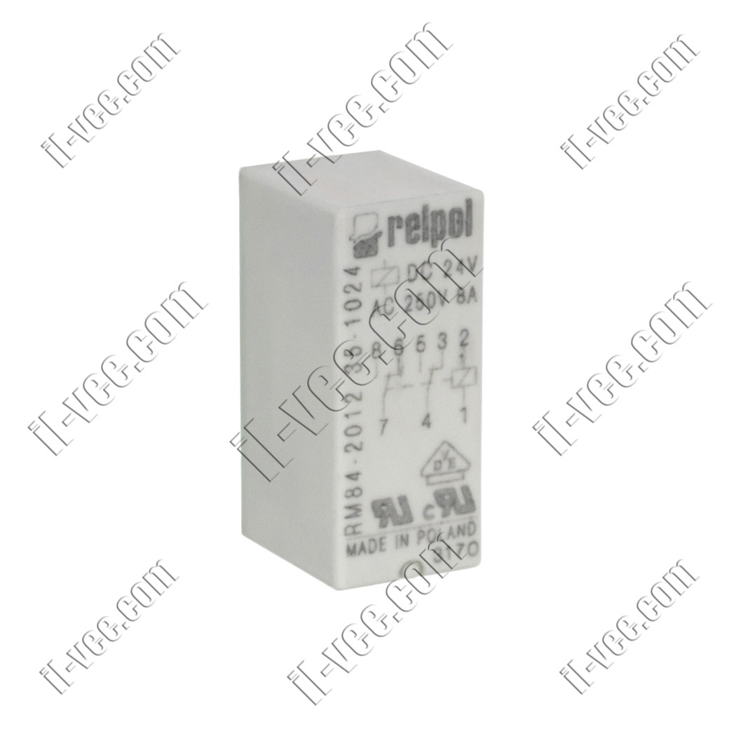 Реле Relpol RM84-2012-35-1024, 24VDC, 8А/250VAC 8А/24VDC