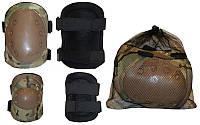 Защита тактическая наколенники, налокотники BC-4039-HG (р-р XL, ABS, полиэстер 600D, камуфляж woodl)