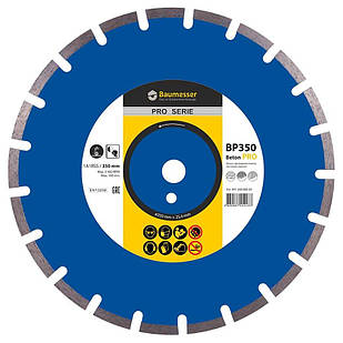 Алмазный диск Baumesser 1A1RSS/C1-H 350x3,5/2,5x10x25,4-21 F4 Beton PRO (94120008024)