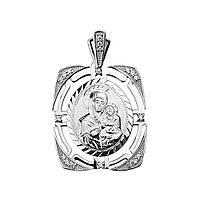 Серебряная ладанка Безусловная любовь с кристаллами циркония 000130339