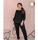 Костюм женский батал с кофтой и брюками, фото 3