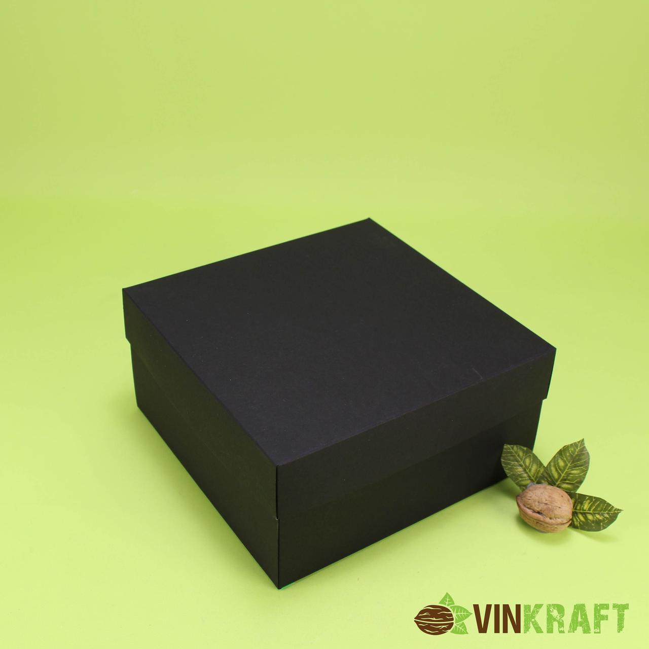 Подарункова коробка 200*200*100, чорна