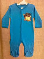 Комбинезон для новорожденных мальчик + унисекс (человечки) 0-18 мес. С+3