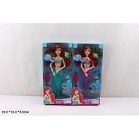 Кукла шарнирная Русалка 9398, 2 вида, свет., муз., рыбка, расческа