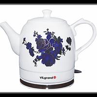 Чайник електричний керамика (1,5 л; термічний малюнок; 1 кВт) ViLgrand VC515R