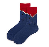Носки высокие Большой Рыб Сofeetbo 36-42 Темно-синий с красным