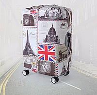 Чехол для чемодана Транзит Лондон Париж RunningTiger L Разноцветный
