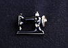 Швейная машинка значок брошь брошка эмаль черная металл отличное качество, фото 4