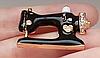 Швейная машинка значок брошь брошка эмаль черная металл отличное качество, фото 5