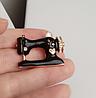 Швейная машинка значок брошь брошка эмаль черная металл отличное качество, фото 2