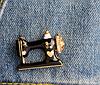 Швейная машинка значок брошь брошка эмаль черная металл отличное качество, фото 9