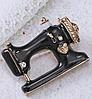 Швейная машинка значок брошь брошка эмаль черная металл отличное качество, фото 3