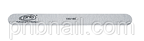 Пилка для ногтей PNB 100/180 Grey,  прямая