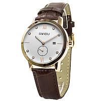 Кварцевые часы Swidu SWI-018 механические для мужчин Коричневый (3088-8774)