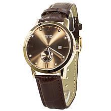 Часы SWIDU SWI-018 с двумя циферблатами корпус из нержавеющей стали мужские наручные Brown + Gold  (3088-8773)
