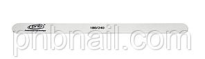 Пилка для ногтей PNB 180/240 White Wood, прямая узкая