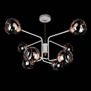 Люстра в стиле лофт на 8 лампочек P5-N3563/8/WT+FG