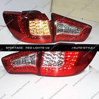 Альтернативная задняя оптика KIA Sportage R  тюнинг-оптика красная V2