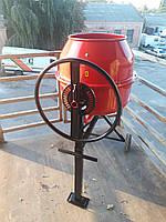 Електрична бетономішалка двостороння FORTE EW6140P на 140 літрів з транспортувальні колеса