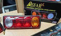 Задній ліхтар стоп 4 секції для вантажівки, причепа Універсальний Asfar, фото 1