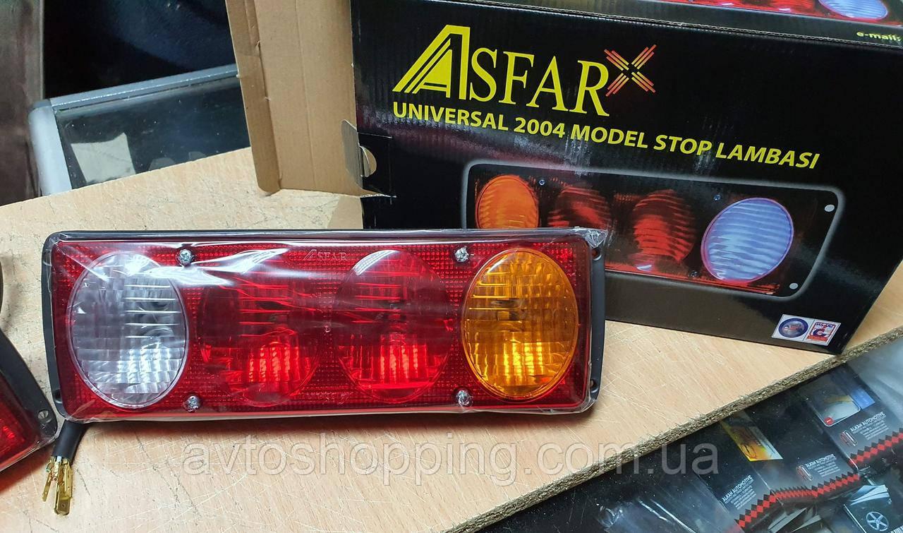 Задній ліхтар стоп 4 секції для вантажівки, причепа Універсальний Asfar