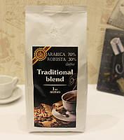 Кофе в зернах 1 кг Традиционная смесь 70A / 30R, фото 1