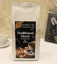 Кава в зернах 1 кг Традиційна суміш 70A / 30R