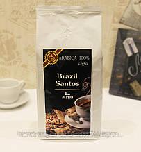 Кофе в зернах 1 кг Бразили Сантос