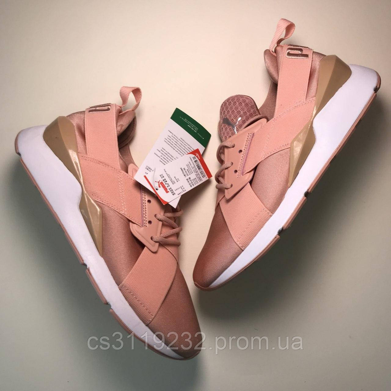 Женские кроссовки Puma Muse Metal Pink (розовые)